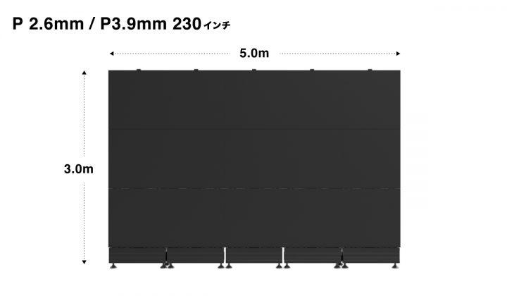 LEDパネル LEDビジョン レンタル 230インチ